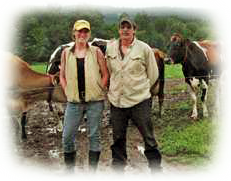 Sharon Squires with husband Brock, Squires Farm, Munnsville, NY